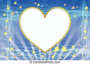 PhotoFrame. Heart in shape