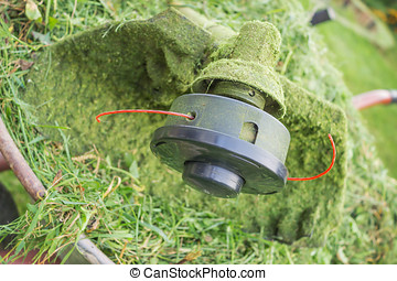 Spool Trimmer  and grass