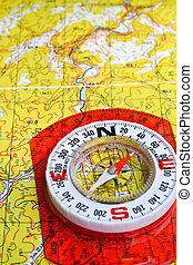 Journey into the world of adventure. Topographic map and...