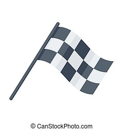 Racing Flag Icon - Racing flag, vector illustration in flat...