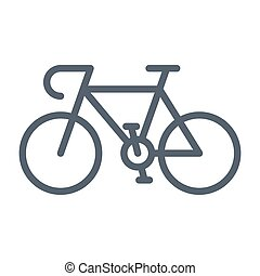 Sport Bicycle Vector Icon - Sport bicycle, vector...