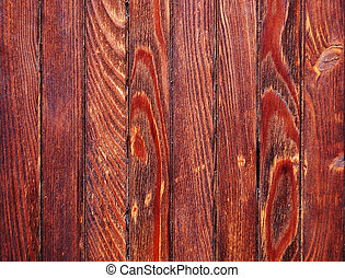 Red-brown painted plank - Weathered red-brown painted plank...