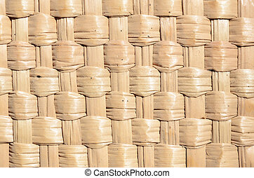 The texture of the standard weaving of straw - The texture...