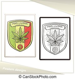 Medica Marijuana Poster Five - Design of a poster with a...