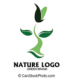 Isolated nature logo on a white background, Vector...