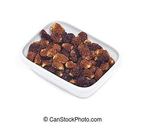 Dried organic golden berries, Physalis Peruviana, in bowl...