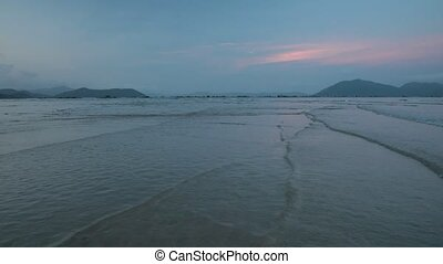 Ocean Scene Sunset Vietnam - A sunset scene over the south...