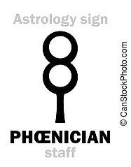Astrology: PHOENICIAN staff - Astrology Alphabet: PHOENICIAN...