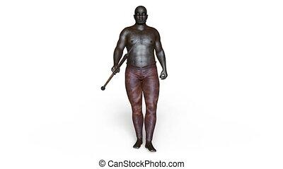 Walking big man - 3D CG rendering of a walking big man.
