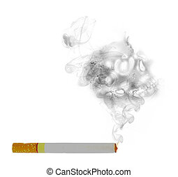 cigarette with skull smoke effect