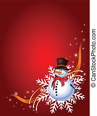 Christmas Gift page - Decorative Christmas card with snowman