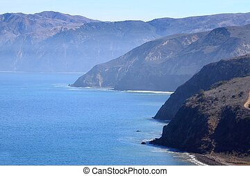 santa cruz island - Santa Cruz Island of the cost from...