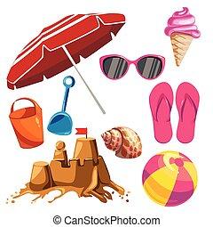 Set of summer things