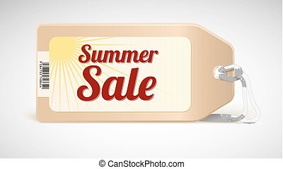 Advertising banner sales with typography. Summer sale label, tag with yellow sun