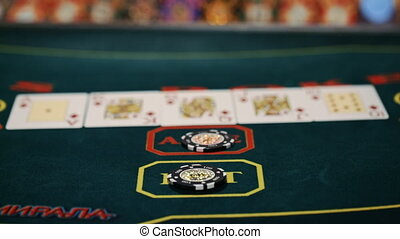 Poker table - Texas Hold'Em flash Royal.