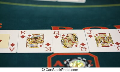 Poker table - Texas Hold'Em flash Royal.