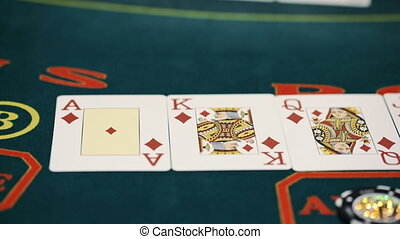 Poker table - Royal Flush