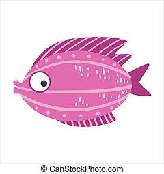 Burgundy And Pink Fantastic Colorful Aquarium Fish, Tropical...