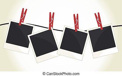 Polaroid - Vector illustration of the empty polaroid photos
