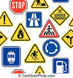 Traffic signs - Vector illustration of the background made...