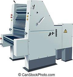 Printing-press - An Heidelberger offset printing press...