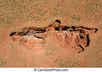 Aerial view of a sinkhole - South Africa