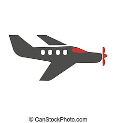 Passenger plane silhouette isolated on white vector logo picture