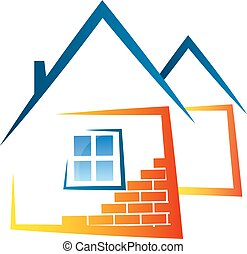 Real estate abstract symbol for business vector