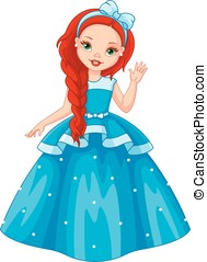 Little Princess - Cute little princess with red hair