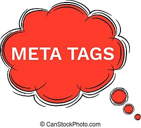 Vector Illustration Doodle of speech bubble META TAGS. EPS8...
