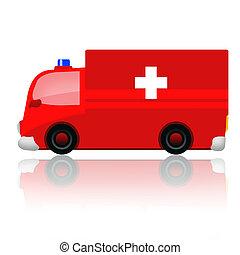 Ambulance automobile - Ambulance car isolated on white...