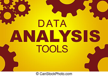 Data analysis tools concept