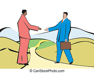 business agreement - Businessmen shaking hands