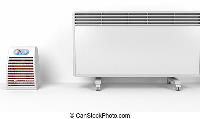 Many heating devices - Different types of domestic electric...