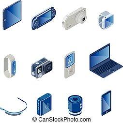 Digital Technology Gadgets Set - Digital technology gadgets...