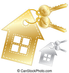 House icon - Icon with house and bunch of keys, element for...