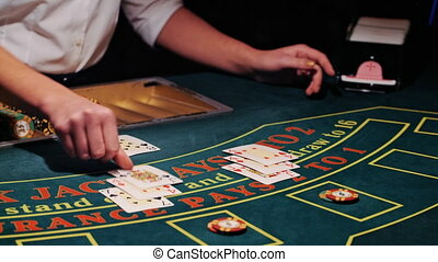play in blackjack card game