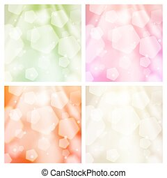 Abstract bokeh backgrounds set