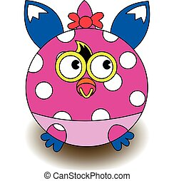 Funny baby monster vector color