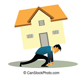home loan - Illustrative representation of a man...