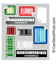 Set of color bar codes