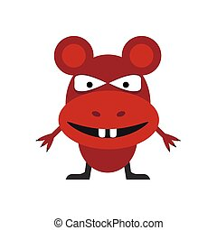 Cute red mouse