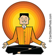 business mantra - Man meditating