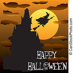 Haunted House 2 - Vector Illustration of a Happy Halloween...