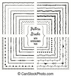 Vector pattern brushes with outer and inner tiles pack -...
