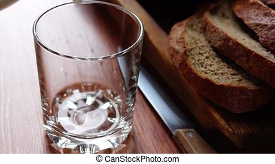 Fresh loaf of bread and milk - Fresh natural bread and milk...