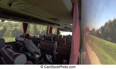 Interior passenger bus transport, group