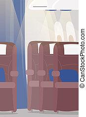 airplane cabin -  airplane interior