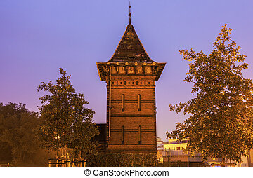 Old Tower in Magdeburg. Magdeburg, Lower Saxony, Germany.
