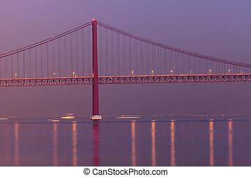 25 de Abril Bridge in Lisbon